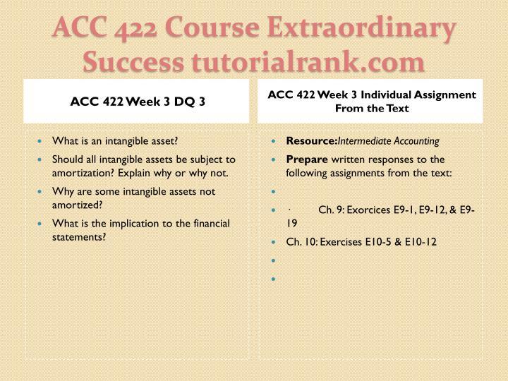 ACC 422 Week 3 DQ 3