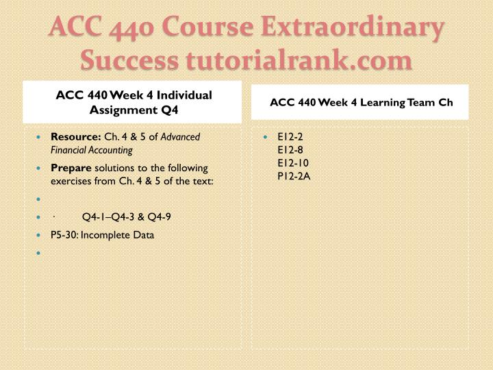 ACC 440 Week 4 Individual Assignment Q4