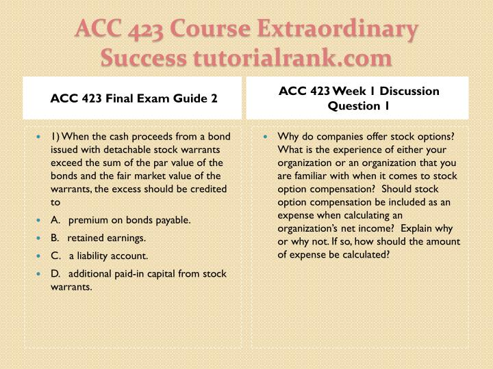 ACC 423 Final Exam Guide 2