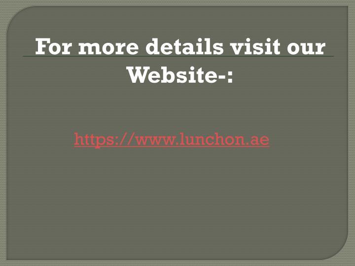 For more details visit our Website-: