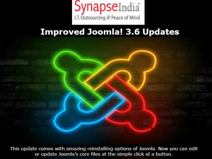 Improved joomla 3 6 updates