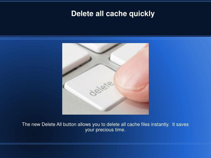 Delete all cache quickly