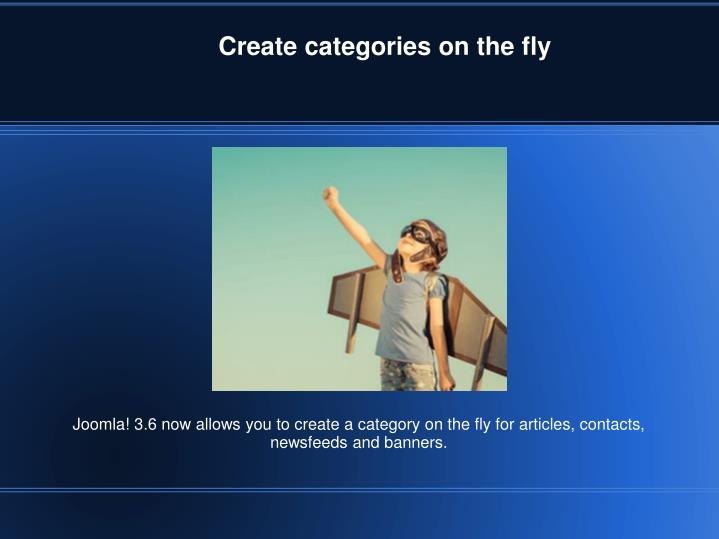 Create categories on the fly