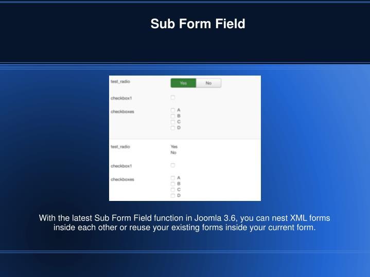 Sub Form Field
