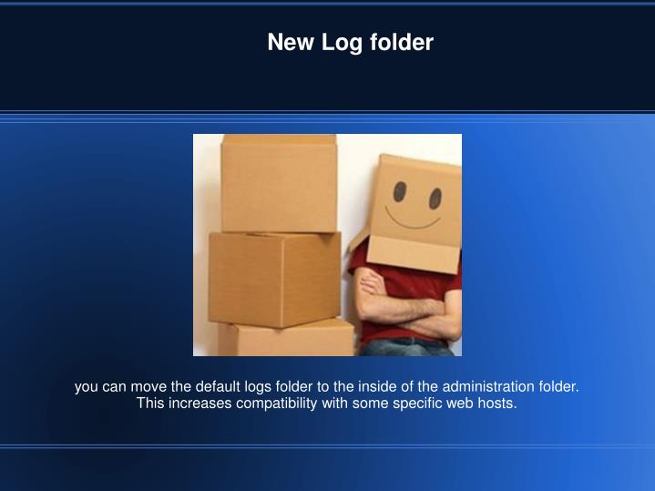New Log folder