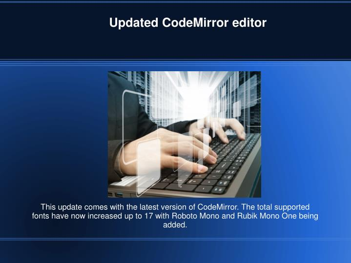 Updated CodeMirror editor