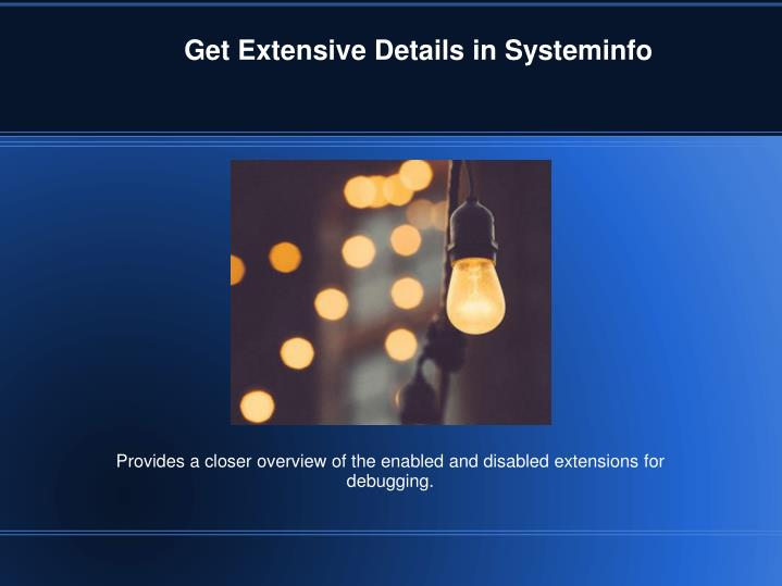 Get Extensive Details in Systeminfo