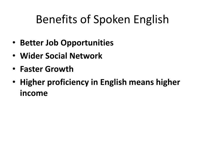 Benefits of Spoken English