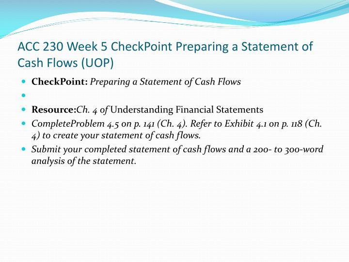 ACC 230 Week 5