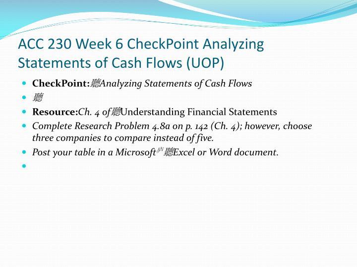 ACC 230 Week 6