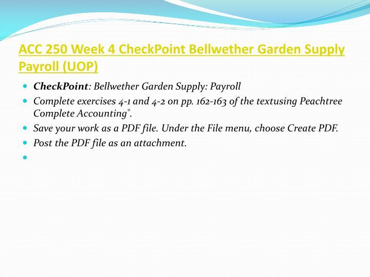 ACC 250 Week 4