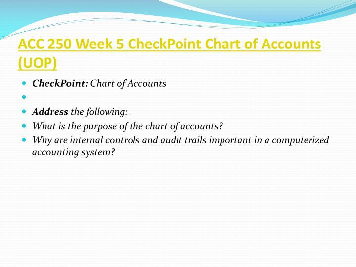 ACC 250 Week 5