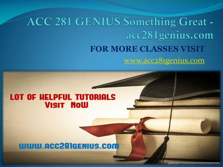 Acc 281 genius something great acc281genius com