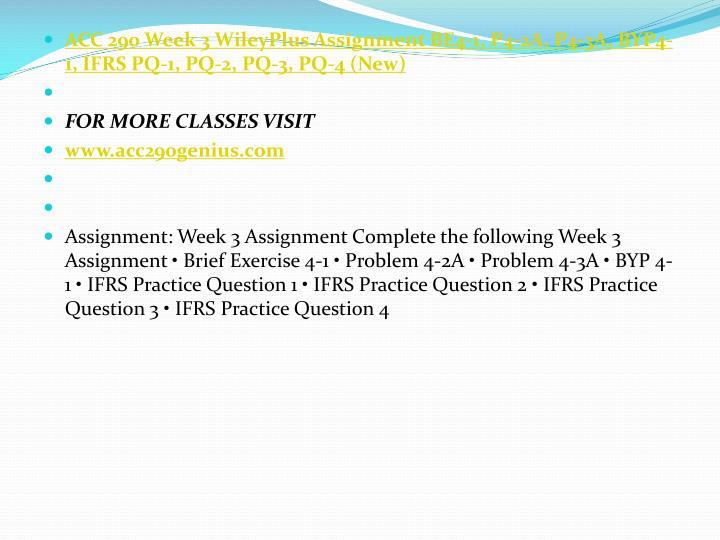 ACC 290 Week 3