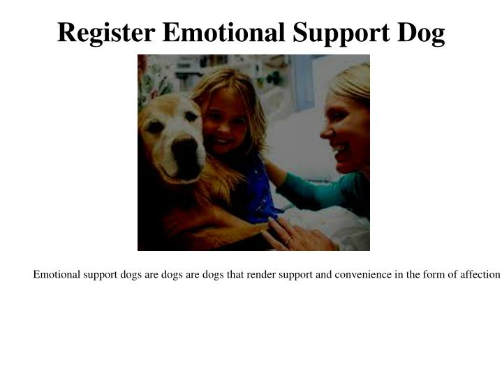 Register Emotional Support Dog