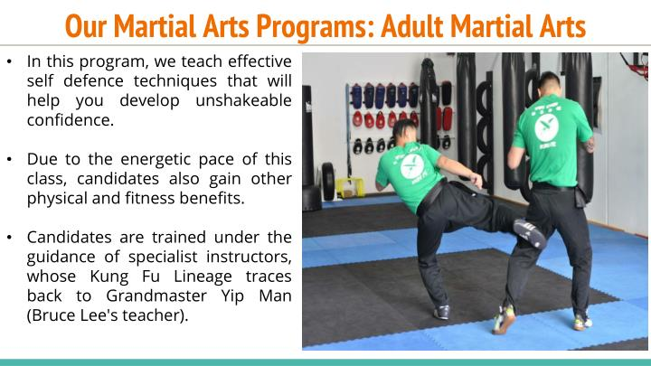 Our Martial Arts Programs: Adult