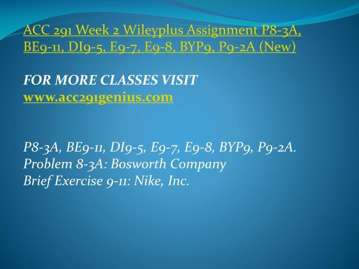 ACC 291 Week 2