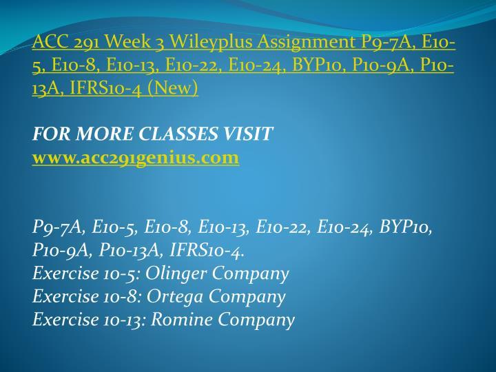 ACC 291 Week 3