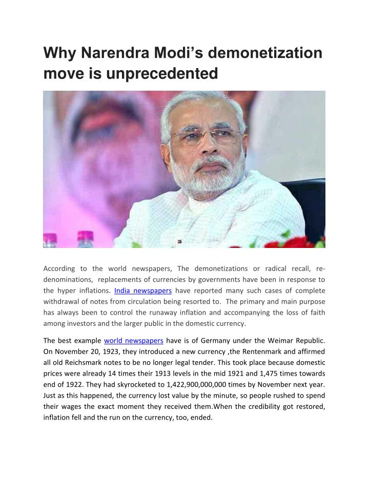 Why Narendra Modi's demonetization