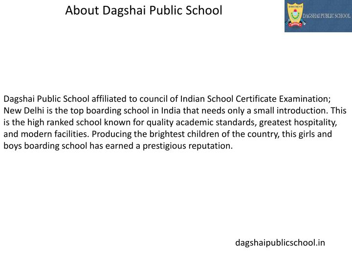 About Dagshai Public School