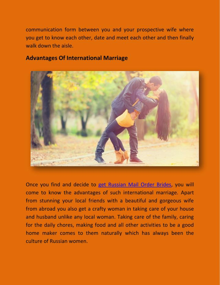 communication form between you and your prospective wife where