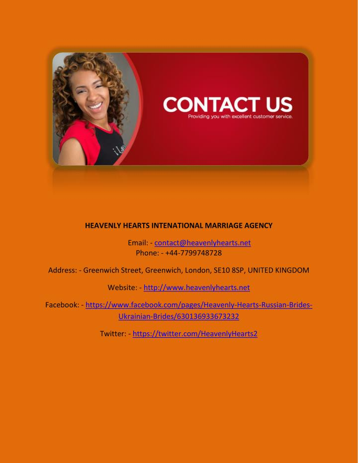 HEAVENLY HEARTS INTENATIONAL MARRIAGE AGENCY