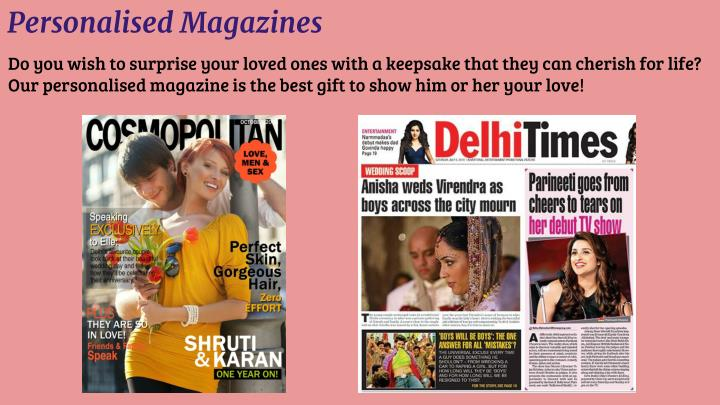 Personalised Magazines