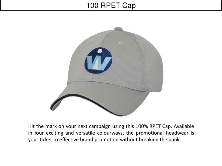 100 RPET Cap