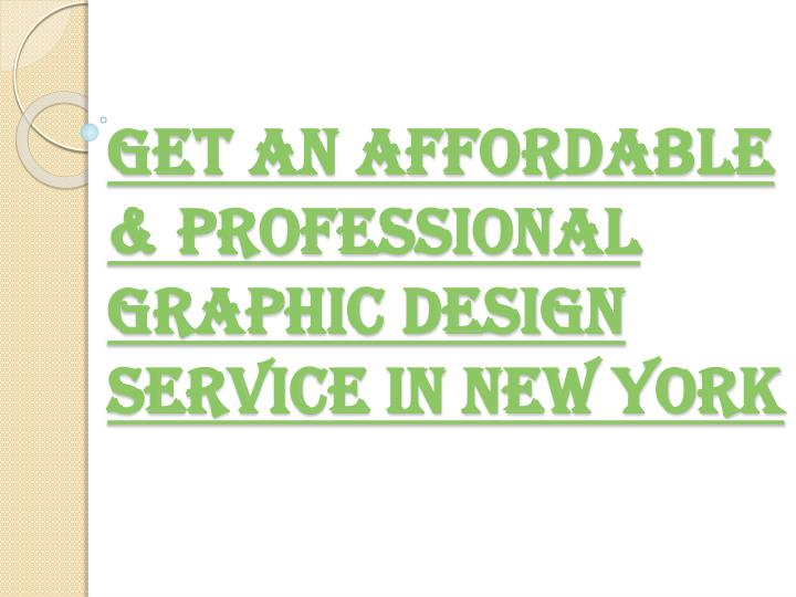 Get an Affordable & Professional Graphic Design Service in New York