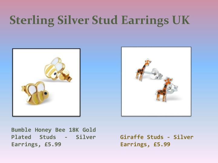 Sterling Silver Stud Earrings UK