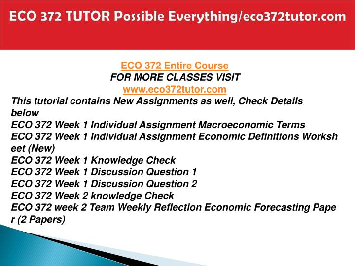 Eco 372 tutor possible everything eco372tutor com1