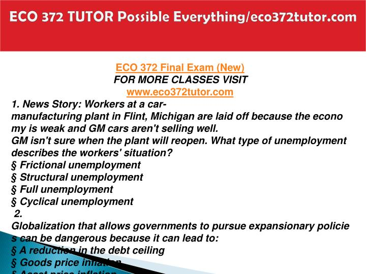 Eco 372 tutor possible everything eco372tutor com2