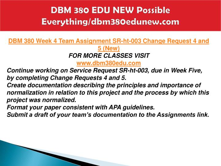 DBM 380 EDU NEW Possible Everything/dbm380edunew.com