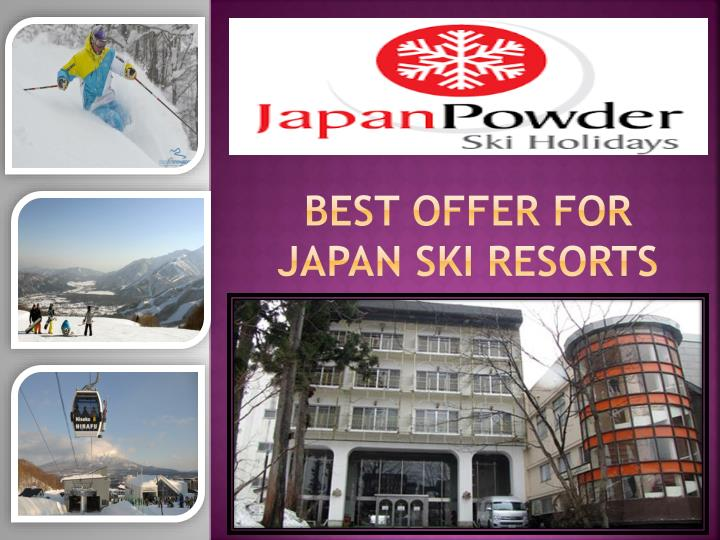 Find japan ski resorts