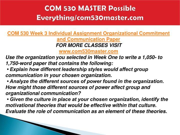 COM 530 MASTER Possible Everything/com530master.com