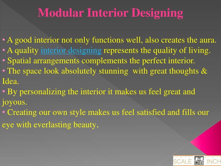 Modular Interior Designing