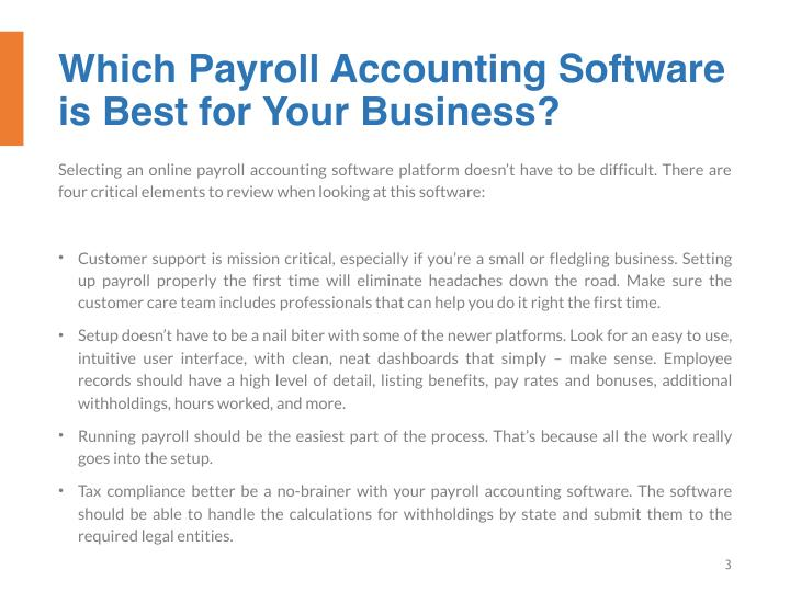 Which Payroll Accounting Software