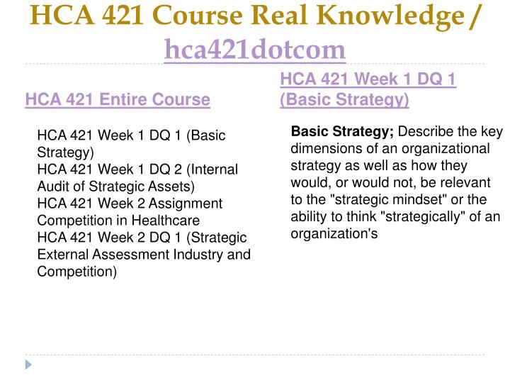 Hca 421 course real knowledge hca421dotcom1