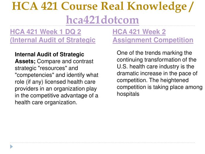Hca 421 course real knowledge hca421dotcom2