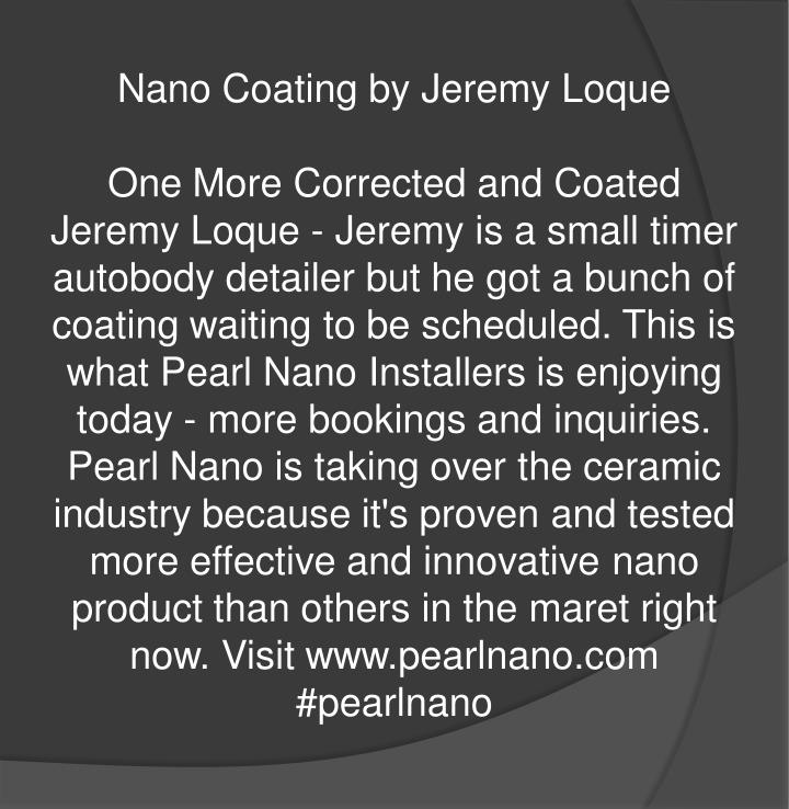 Nano Coating by Jeremy Loque