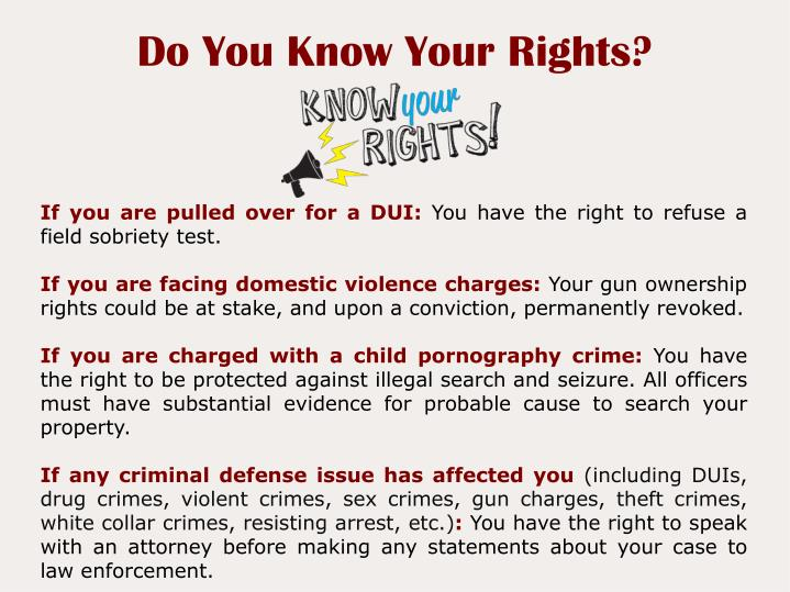 Do You Know Your Rights?