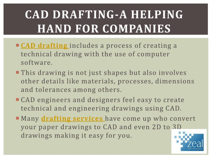 Cad drafting a helping hand for companies