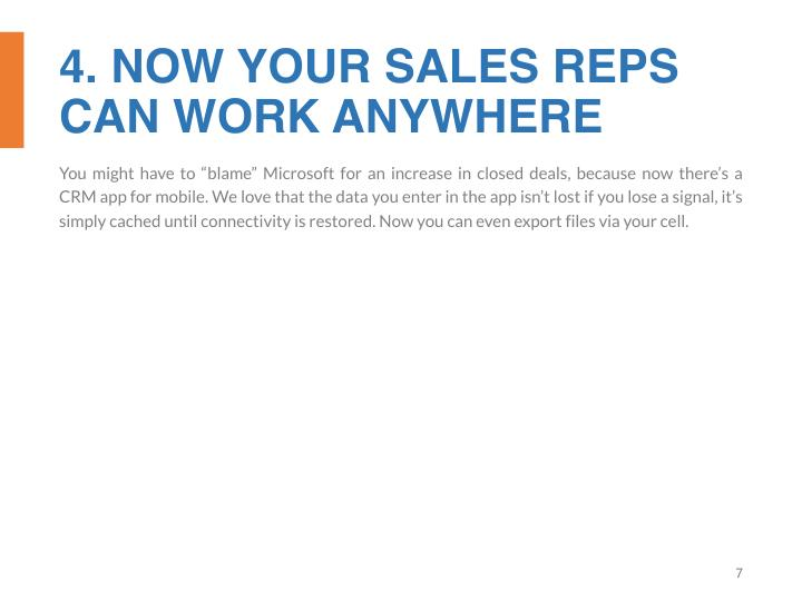 4. NOW YOUR SALES REPS