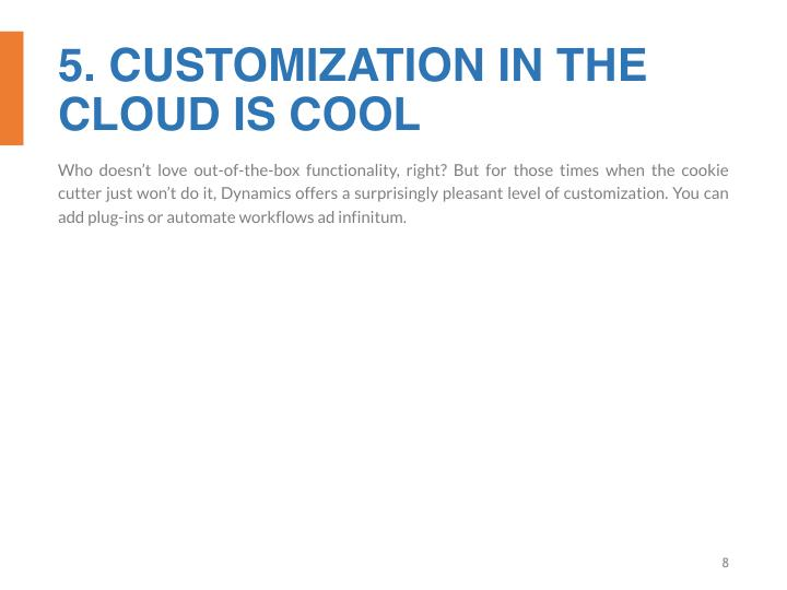 5. CUSTOMIZATION IN THE