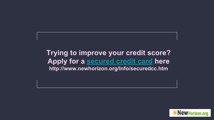 Trying to improve your credit score?
