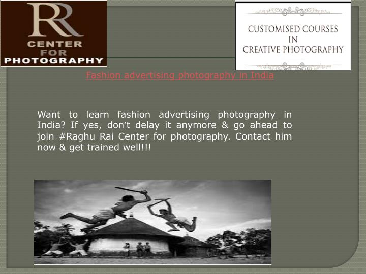 Fashion advertising photography in India