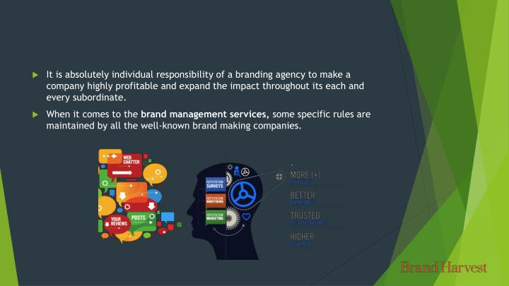 It is absolutely individual responsibility of a branding agency to make a company highly profitable ...