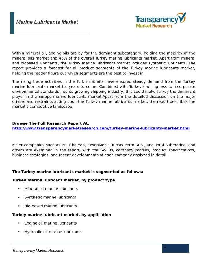 Marine Lubricants Market