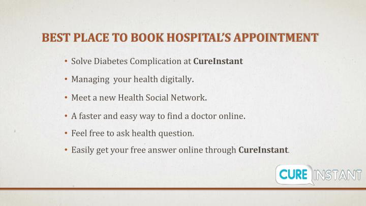 Best place to book hospital's appointment