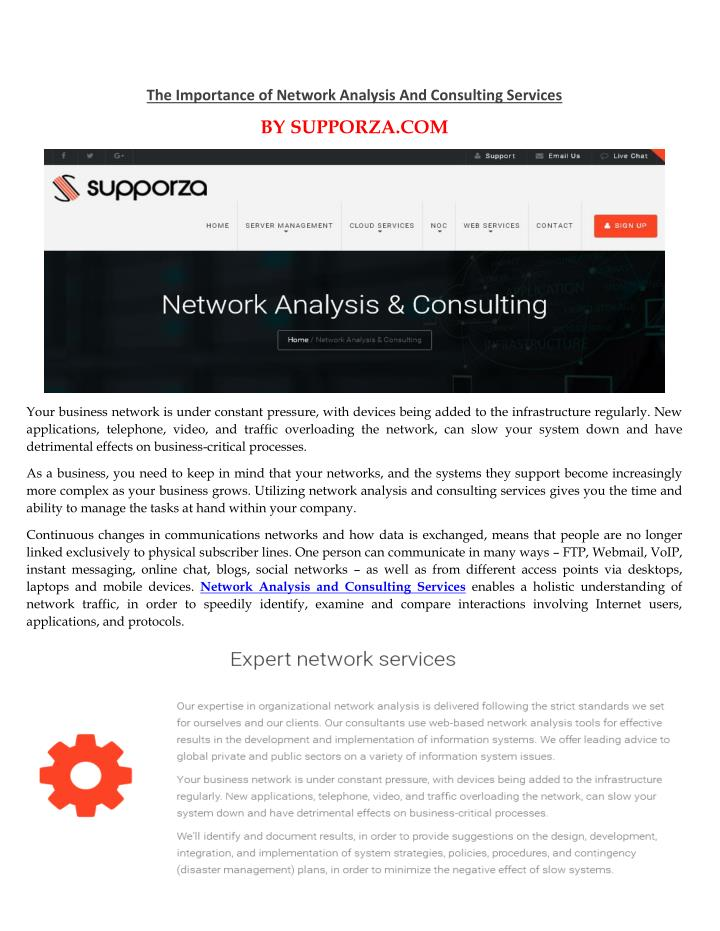 The Importance of Network Analysis And Consulting Services